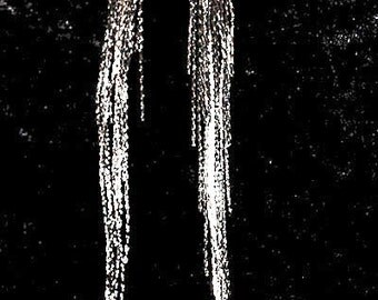 Shoulder Duster Long Tassle Inverted Cross Earrings