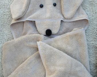Golden Retriever Hooded Beach Towel