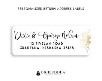 Modern Address Labels Calligraphy Return Address Labels Modern Return Address Labels Personalized Address Stickers Custom Label | Dixie