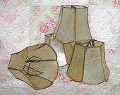 Vintage Capiz Shell Shades Set of 4 Chandelier Shades by LightsFantastic