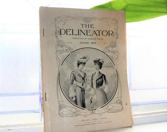 1902 Fashion Magazine The Delineator Antique Edwardian Styles