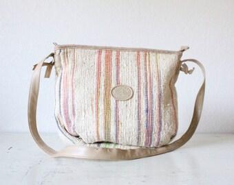 woven handbag / 1980's *see details