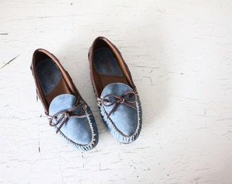 vintage denim loafers / 7