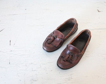 Vintage leather hassle loafers