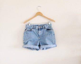 high waist jean shorts / 29 waist