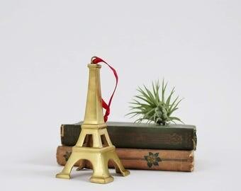 Vintage Brass Eiffel Tower Figurine - Desk Decor - Brass Monument de Paris Ornament