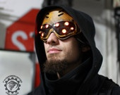 PRE-ORDER for March 2017 - Custom made to order Hivemind v2 Cyberpunk scifi LED dystopian light up goggles - Choose colors.
