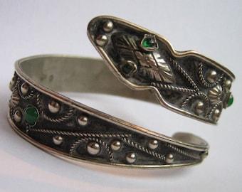 Vintage Italy Silver Snake Wrap Bracelet