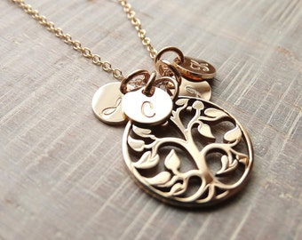 Mothers Necklace Tree of Life Necklace Jewelry Necklace Gold Necklace Family Tree necklace Charm Necklace Personalized Jewelry gold tree
