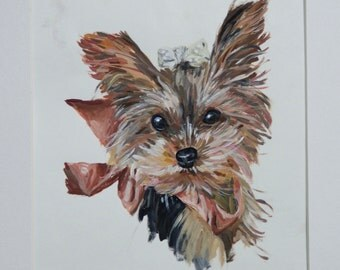 Limited time Custom Gouache pet portrait for Holiday seasons.