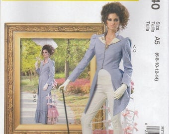 Fitted Jacket, Skirt & Bustle Cage Pattern McCalls 7140 Sizes 6 - 14 Uncut