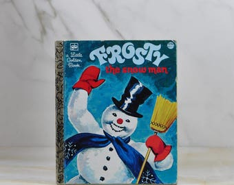 Vintage Frosty, The Snowman, 1980, Little Golden Book, Christmas, Magic Hat, Button Nose, Coal, Christmas Song, Gene Autry, Children, Winter