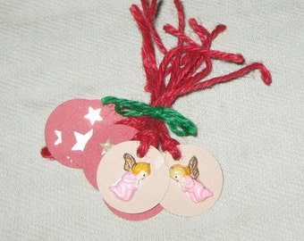 Angel and Star Tags - 6 pcs