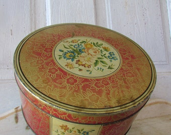 Huntley and Palmer's  shabby metal cookie tin box can