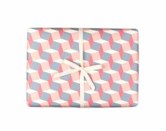 Geometric Square Gift Wrap