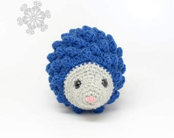 Hedgehog Stuffed Animal, Midnight Blue Hedgie