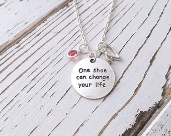 Personalized Shoe Addict Necklace