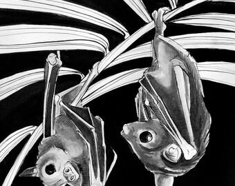 Bats Poster Print