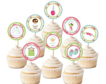 Spa cupcake toppers Etsy