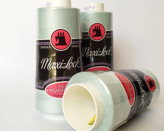 Serger Thread, Maxilock,  Set of 3 / Maxi-Lock SERGER THREAD  3000 Yard  Spools in  Snomoon