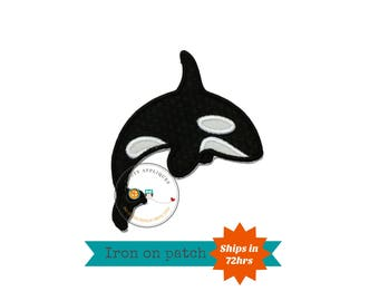 Killer whale ocean creatures iron on applique