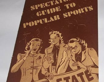1940 Book, Spectator's Guide to Popular Sports