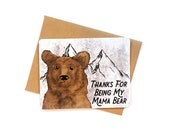 Mama Bear card | Mother's Day card | Got It From My Mama | Mom Birthday card | Mother's Day Card | Funny card for Mama Bear | Momma Bear