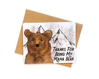 Mama Bear card | Mom Birthday card | Got It From My Mama | Mom Birthday card | Mom Birthday Card | Funny card for Mama Bear | Momma Bear