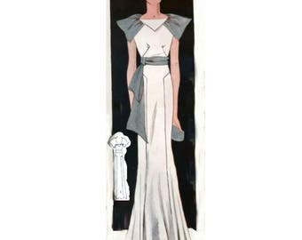 Plus Size (or any size) Vintage 1934 Dress Sewing Pattern - PDF - Pattern No 1544 Jessie