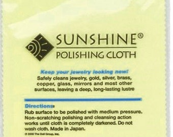 Sunshine Polishing Cloth - Large Size Sterling Silver Polish Pad Tarnish Remover Jewelry Cleaner Gold Silver Brass Copper Polisher