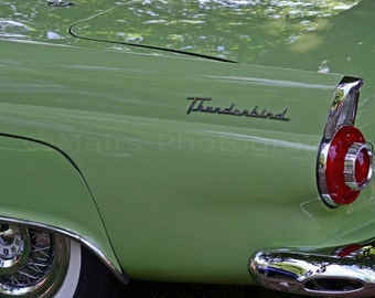 Classic Car Mid-Century Silver Green Abstract Chrome Elegant Man Cave Decor, Fine Art Photography matted & signed 5x7 Original Photograph