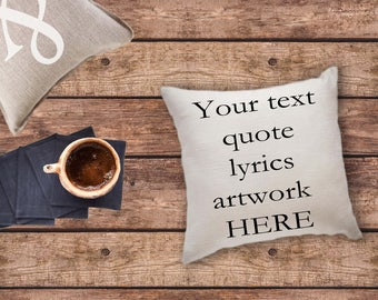 Custom pillow cover - custom text throw pillow - custom print pillow - logo print pillows