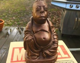 Howard Stern - Beetlejuice Zen Buddha - Fan Art Sculpture - Metallic Rust
