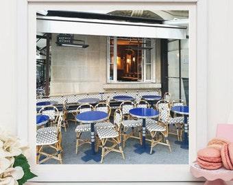 Paris cafe art print, Paris Photography, Wall decor, Kitchen decor, Gift for her, Fine art prints, Paris cafe art, Art Prints