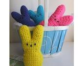 Crochet PATTERN / Bunny Peeps / Crochet Easter Peeps Pattern / Easter Bunny Pattern / Peep Marshmallow Bunny Pattern / Crochet Peeps Pattern