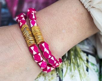 Beaded Bracelet, Stretchy Bracelet, Stacking Bracelet, Boho Bracelet, Tribal Bracelet, Gold Bracelet, Bohemian Jewelry, Stack Bracelet, Boho