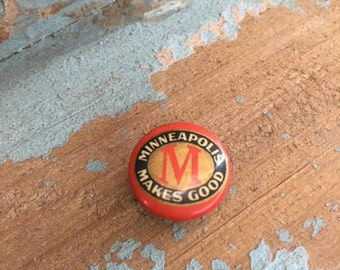 Minneapolis Makes Good Antique Lapel Pin