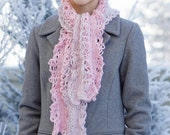 Scarf Crochet Pattern: Elegant Lace Chain Scarf crochet pattern, use fingerling weight or lace weight yarn