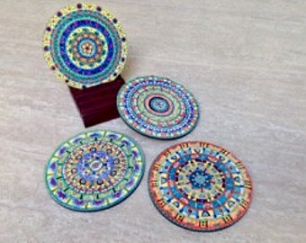 Mandala Coasters Set 1