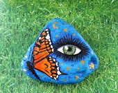 Painted rock hand painted mysical rock garden decor home decor paperweight