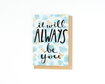 Romantic Love Card - Long Distance Relationship Card - Wedding Day Card - Anniversary Card - I Love You - I Miss You - Engagement Card