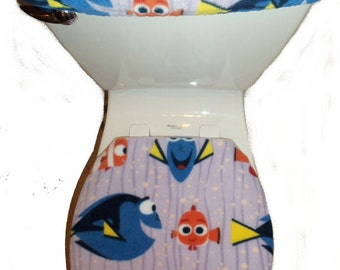 DISNEY FINDING DORY Nemo Fish Fleece Fabric Toilet Seat Cover Set Bathroom  Accessories Part 94
