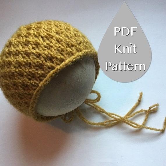 Basic Knitting Tutorial Pdf : Pdf knit pattern the aubrey bonnet newborn