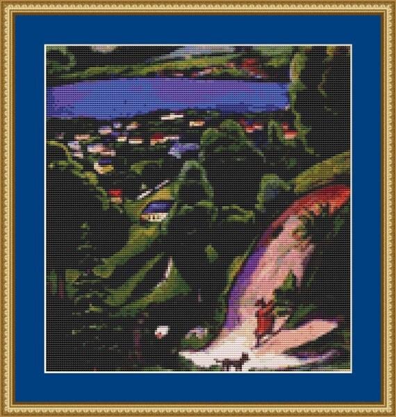 Tegernsee Landscape Cross Stitch Pattern /Digital PDF Files /Instant downloadable