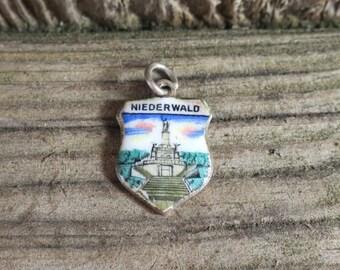 Vintage Niederwald Enamel Travel Charm