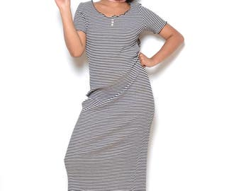 Vintage 90's No Boundaries Striped Maxi Dress Sz M/L