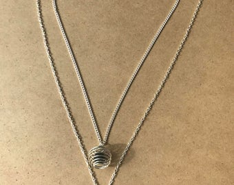 Spiral Cage Diffuser Necklace