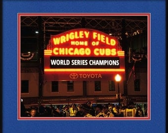 Chicago Cubs Gift - Cubs World Series Sign - World Champions