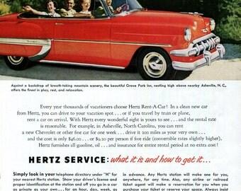 vintage hertz ad etsy. Black Bedroom Furniture Sets. Home Design Ideas