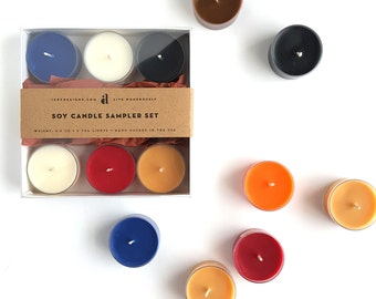 Soy Candle Sampler Set — 6 Scented Tea Lights of Your Choice!
